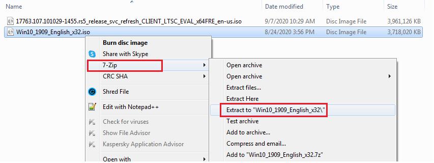 open iso file windows 10 8 7