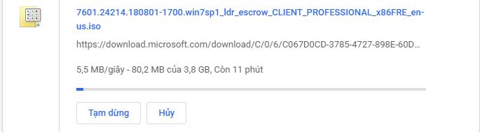 Link download Windows 7 Iso