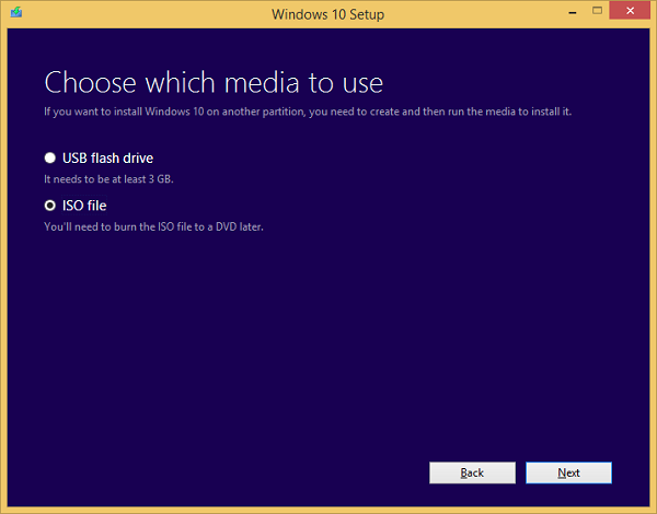 Windows 10 setup ISO file