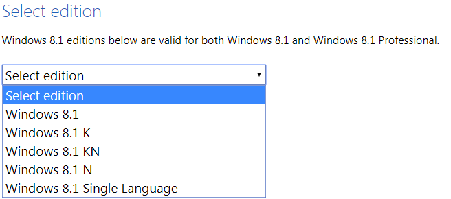 Windows 8.1 version
