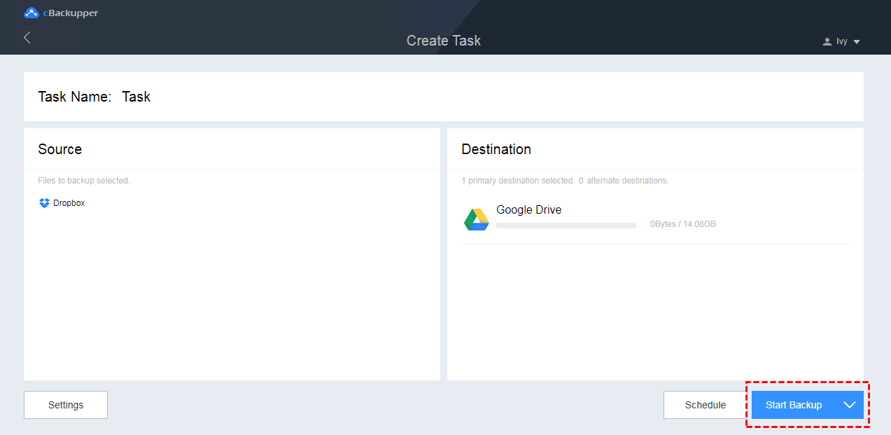How to Backup Files from Dropbox to Google Drive Directly 6