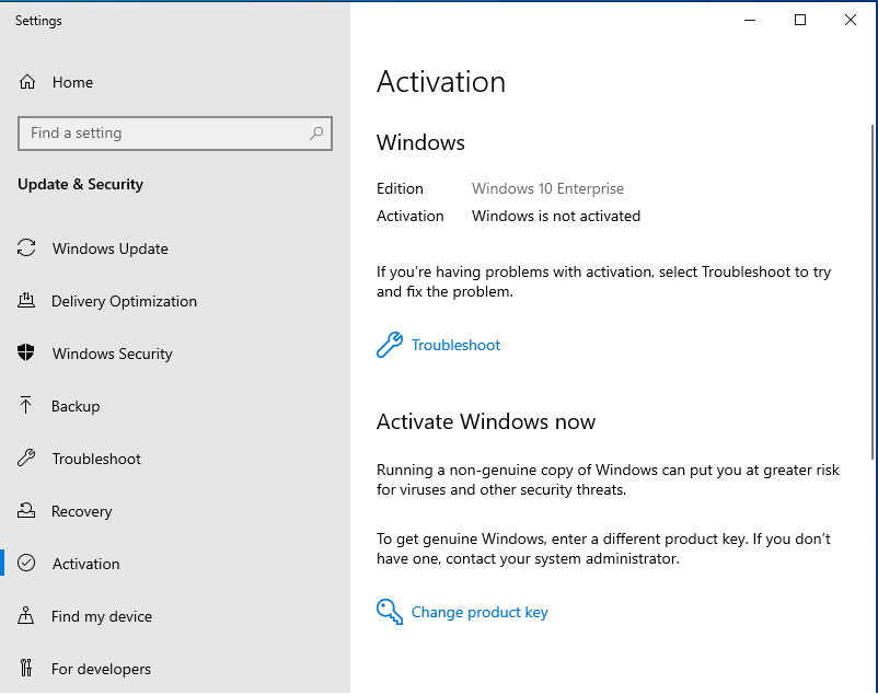 Upgrade Windows 10 Pro to Enterprise