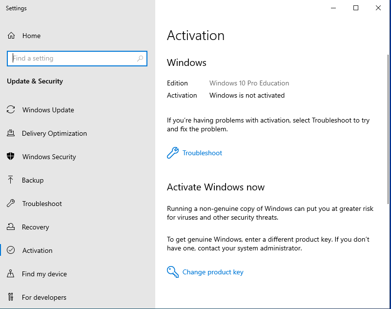 Upgrade Windows 10 Pro to Pro Education