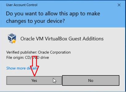 allow VirtualBox