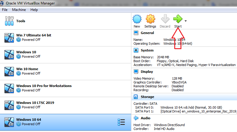 installing Windows 7 8 10 by VirtualBox