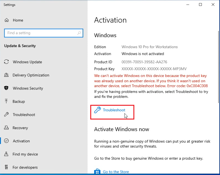reactivate Windows 10 after a hardware change