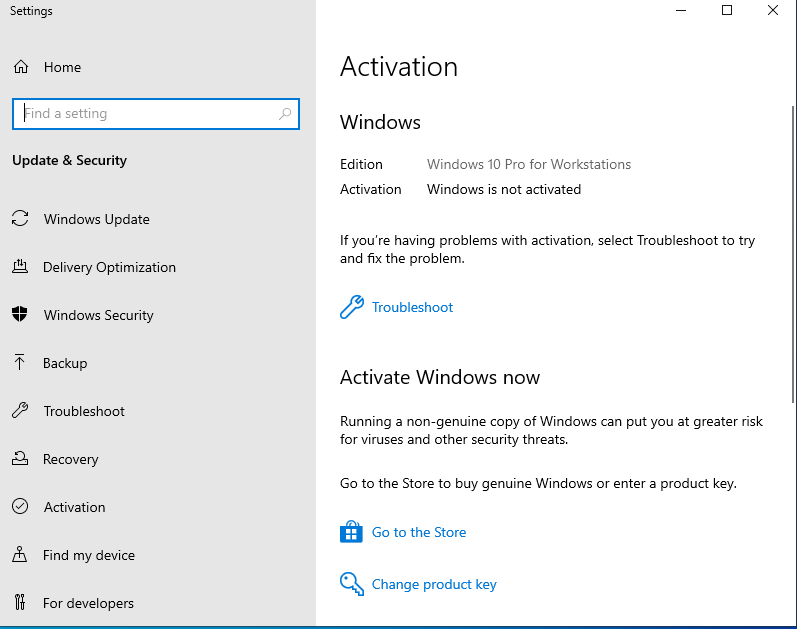 upgrade Windows 10 Pro to Pro for Workstations