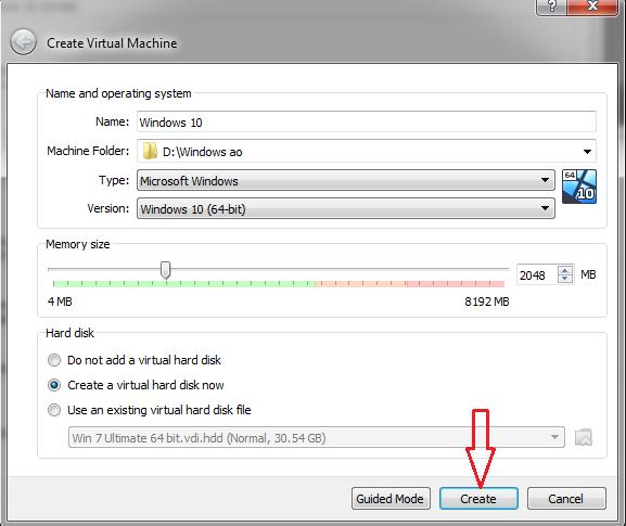 use VirtualBox to create virtual Windows