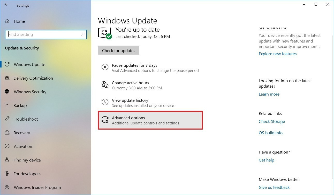 use Windows Setting to disable Windows 10 update