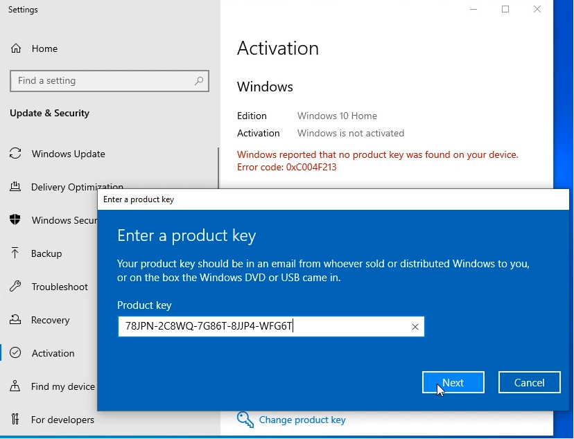 Windows 10 Pro upgrade key free