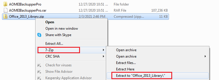 extract Office 2013 license files library
