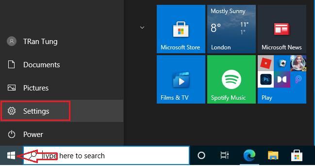 setting Windows 10