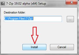 Install 7-Zip