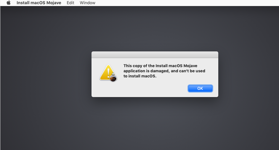 Install MacOS Application is Damaged