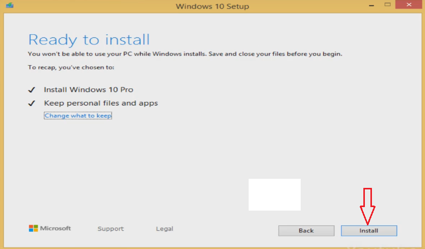 Install Windows 10 from Windows 8.1