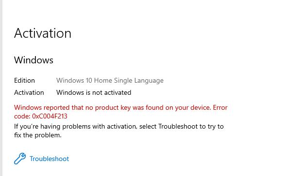 Windows 10 Home Single Language