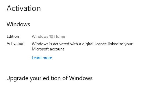 Windows 10 Home