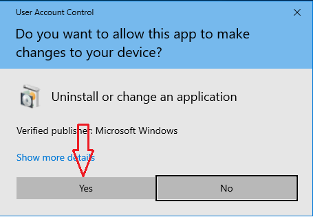 confirm uninstall apps