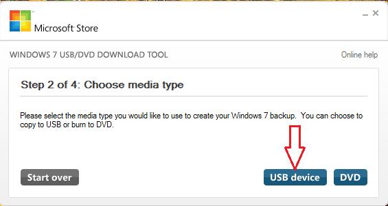 Copy Windows 7 iso to USB