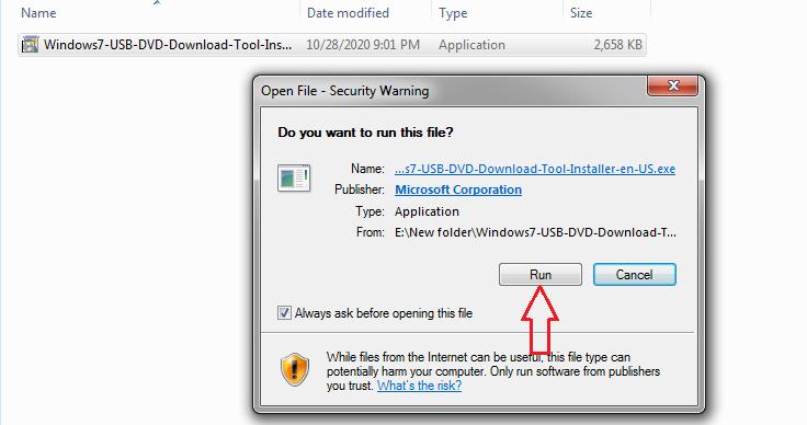 run USB DVD tool