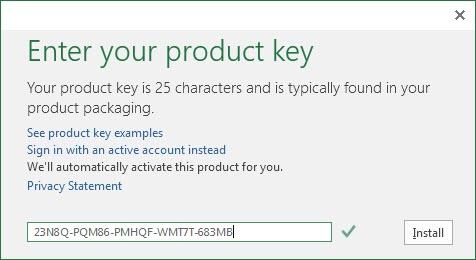 Free Microsoft Office 2016 Product Key