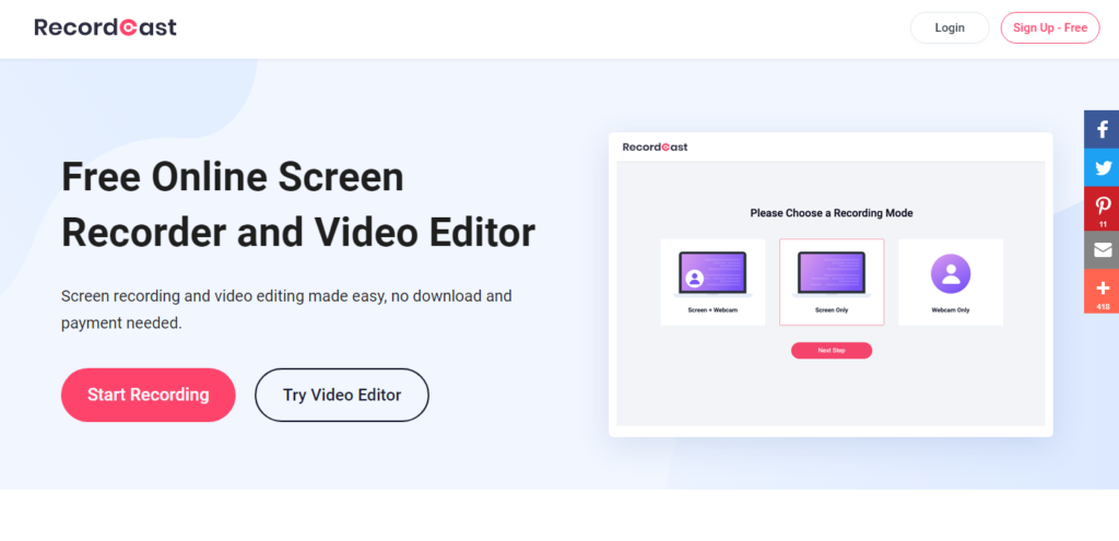 Free Online Screen Recorder and Video Editor
