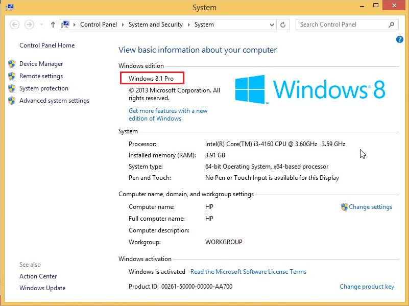 Free Windows 8.1 Pro Product Key