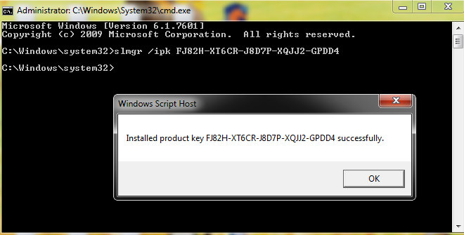 install-Windows-7-Professional-key
