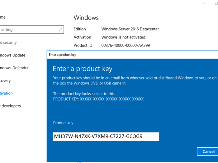 Free Windows Server 2016 Product Key