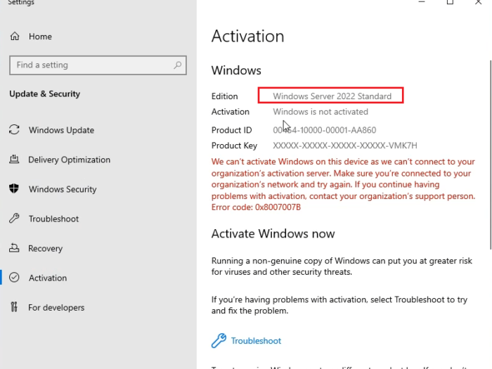 How to upgrade Windows Server Evaluation to full