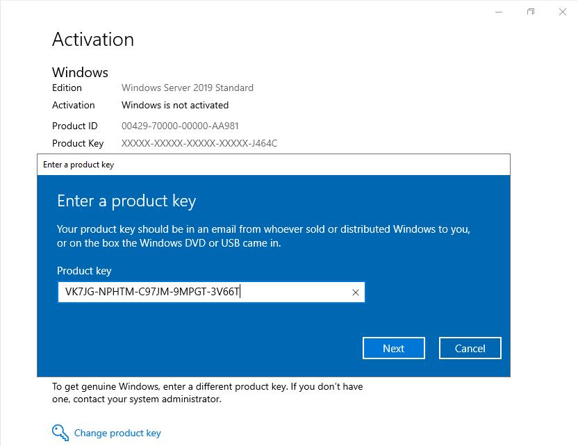 Windows Server 2019 Product Key Free