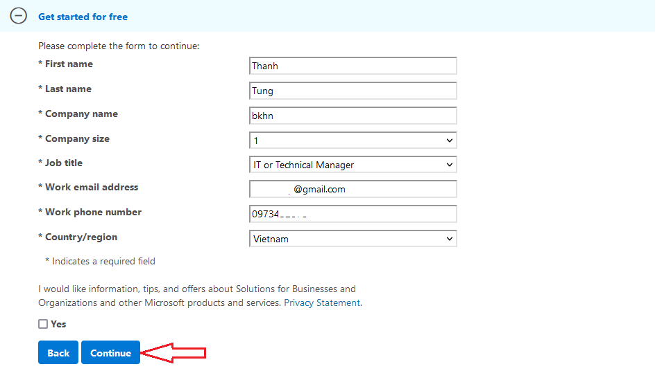 fill out form Windows Server 2019