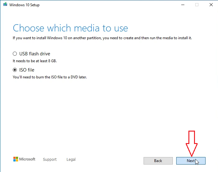 how to use media creation tool to download Windows 10 iso