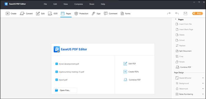 use EaseUS PDF Editor