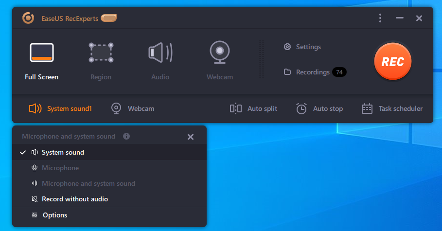 Record Screen and Audio Simultaneously or Separately