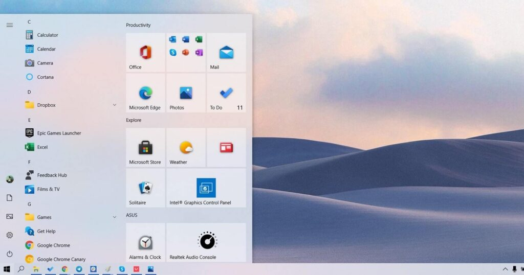 Windows 10 21h1 Features
