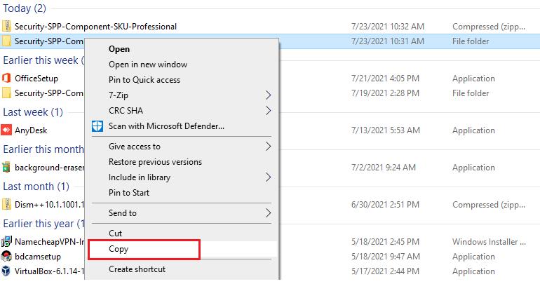 copy Windows 7 Pro sku