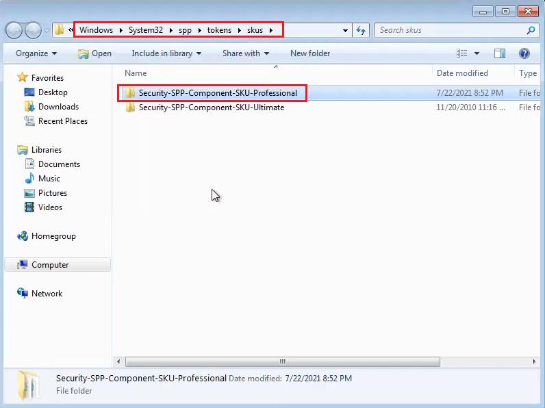 copy Windows 7 Pro skus