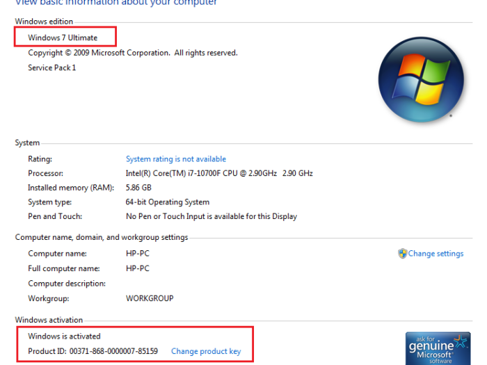 Windows 7 Activator for free