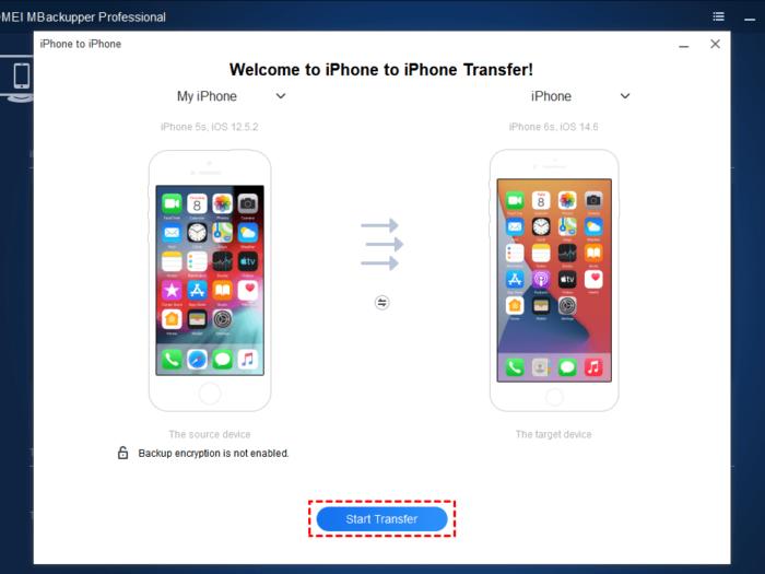 Start Transfer data